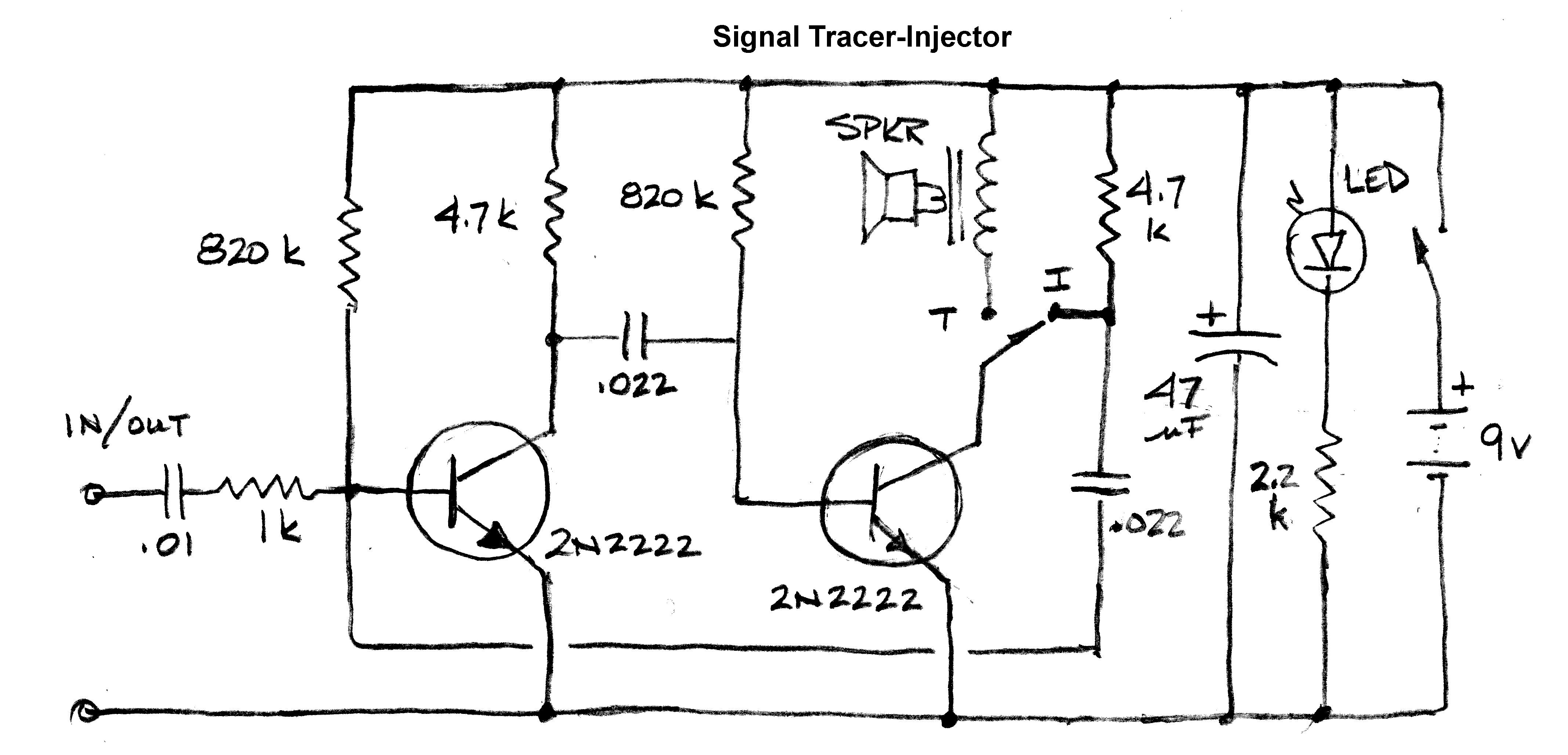 Society Signal Trace Injector Electronic Circuit Schematic Wire Circuits 8085 Projects Blog Archive Led Flashlight Driver Small And Super Simple Test Equipment For Condo Living Canadian Rh Canadianvintageradio Com