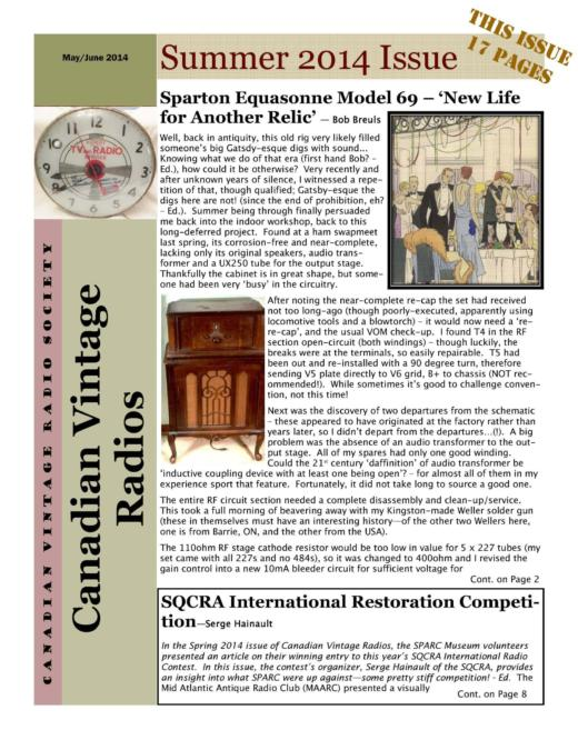 CVRS Newsletter 2014 3 June