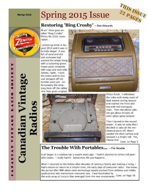 CVRS Newsletter 2015 2 April