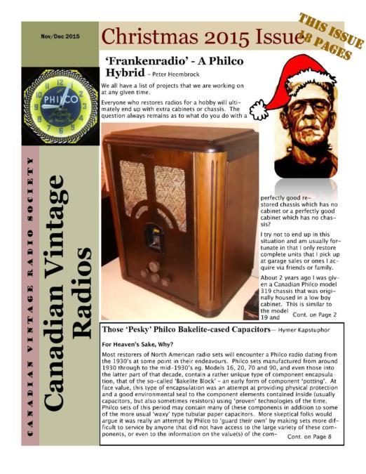 CVRS Newsletter 2015 5 December