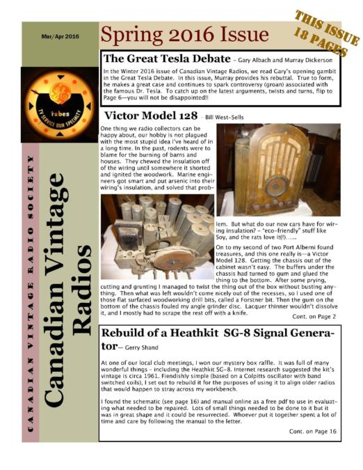 CVRS Newsletter 2016 2 April