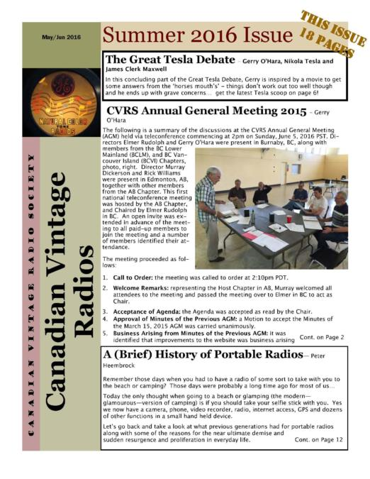 CVRS Newsletter 2016 3 June