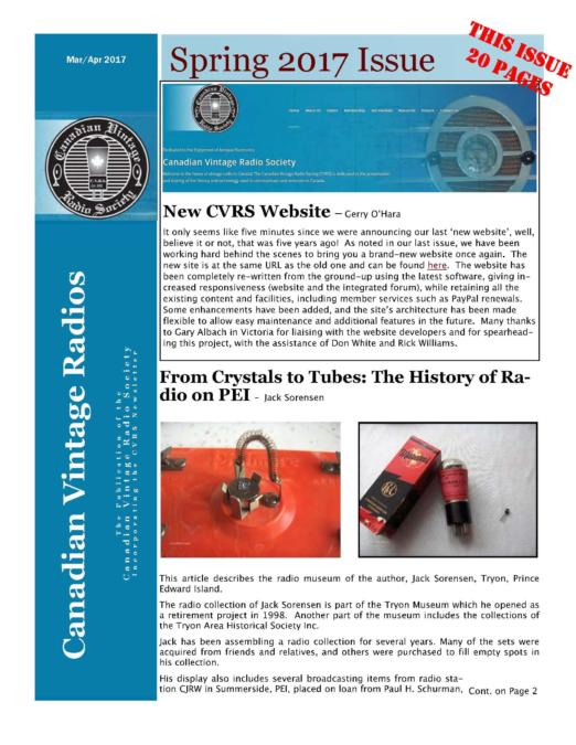 CVRS Newsletter 2017 2 April