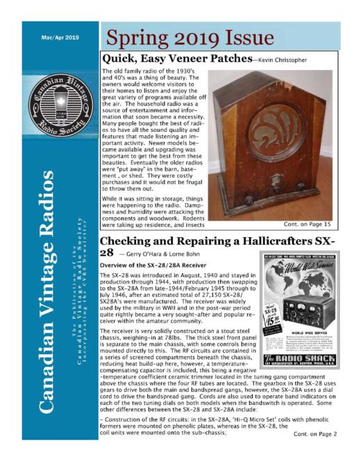 CVRS Newsletter 2019 2 April