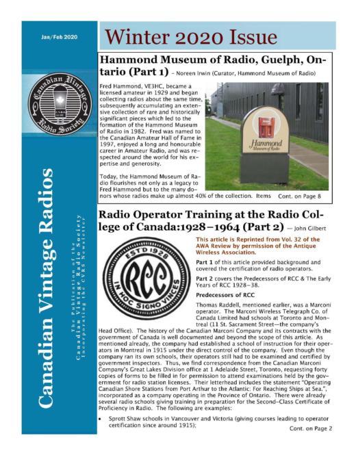 CVRS Newsletter 2020 1 February